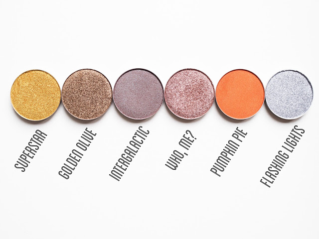 Coloured Raine Eyeshadow Swatches